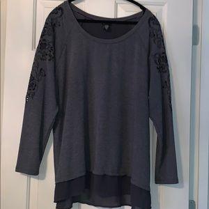 Torrid Grey Sweatshirt Size 2